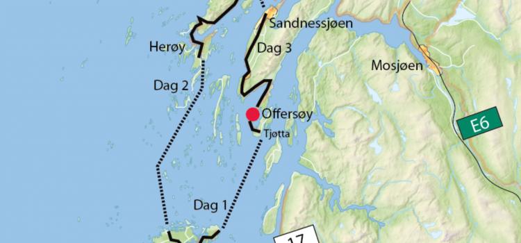 3 dagers tur sykkel: Helgelandskysten